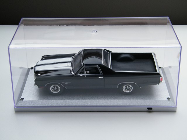 display case vitrine box zilver led verlichting modelauto 118